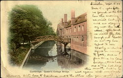 Queen's College Bridge Postcard