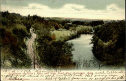A Glimpse Of Miller'S River And State Road Postcard