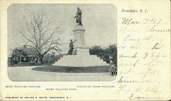 Betsy Williams Cottage/Statue Of Roger Williams/ Roger Williams Park Postcard