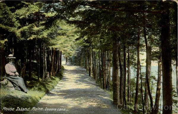 Lovers lane Mouse Island Maine