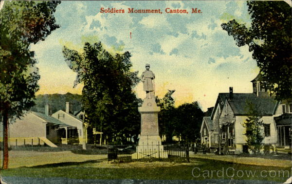 Soldiers Monument Canton Maine