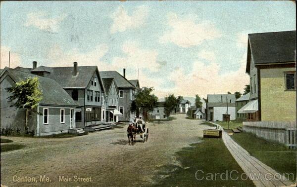 Main Street Canton Maine