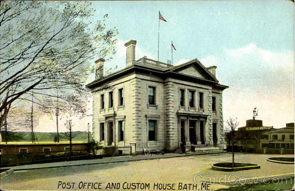 Post Office and Custom House Bath Maine