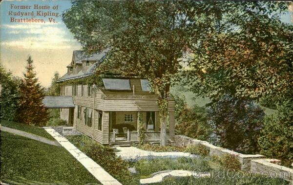 former home of rudyard kipling brattleboro vt. Black Bedroom Furniture Sets. Home Design Ideas