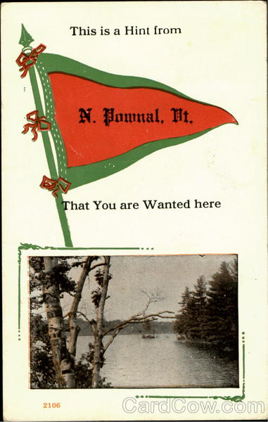 A Hint from N. Pownal North Pownal Vermont Banners & Pennants