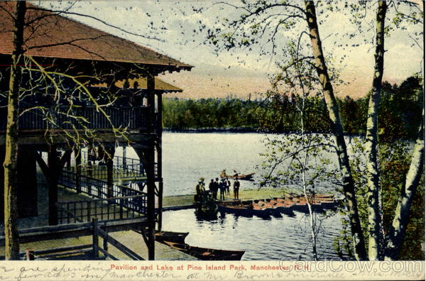 Pavilion And Lake At Pine Island Park Manchester New Hampshire