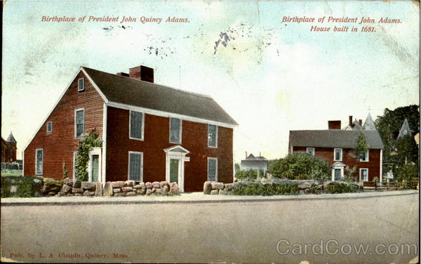 Birthplace Of President John Quincy Adams Massachusetts