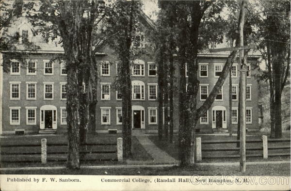 Commercial College Randall Hall New Hampton New Hampshire