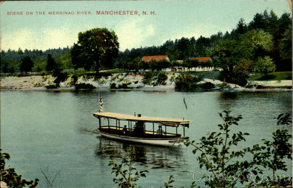 Scene Of The Merrinac River Manchester New Hampshire