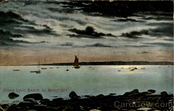 Along Lynn Beach by Moonlight Massachusetts