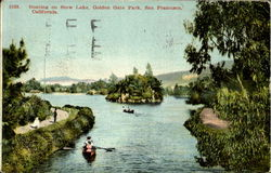 Boating on Stow Lake, Golden Gate Park