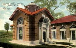 Poland Mineral Springs Spring house Postcard