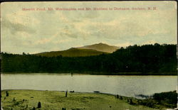 Mascot Pond, Mt. Washington and Mt. Madison in Distance