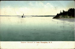 Steamer Vermont On Lake Champlain Postcard
