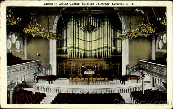 Chapel in Crouse College, Syracuse University New York