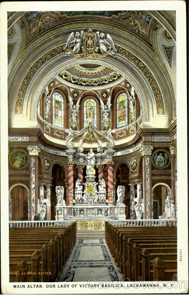 Main Alter, Our Lady of Victoria Basilica Lackawanna New York