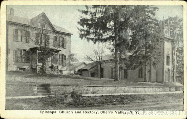 Episcopal Church And Rectory Cherry Valley New York