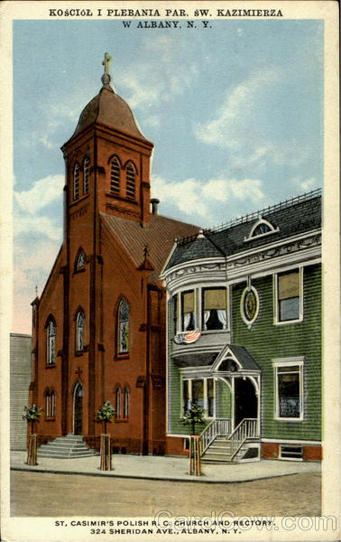 St, Casimir'S Polish R. C. Church And Rectory, 324 Sheridan Ave Albany New York