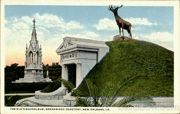 The Elk S Mausoleum Greenwood Cemetery New Orleans La