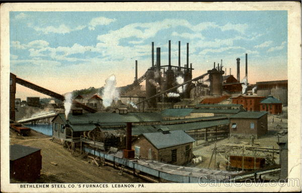 Bethlehem Steel Co.'S Furnaces Lebanon Pennsylvania
