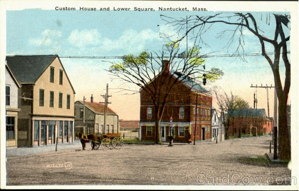 Custom House And Lower Square Nantucket Massachusetts