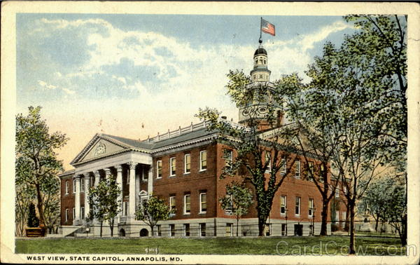 West View, State Capitol Annapolis Maryland