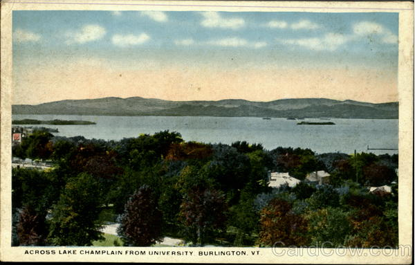 Across Lake Champlain From University Burlington Vermont