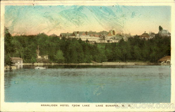 Granliden Hotel From Lake Lake Sunapee New Hampshire