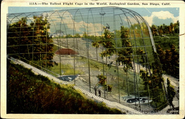 The Tallest Flight Cage in the World, Zoological Garden San Diego California