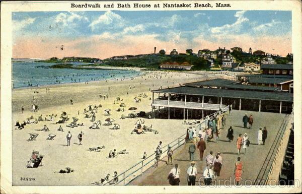 Boardwalk And Bath House At Nantasket Beach Machusetts