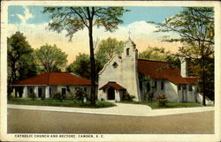 Catholic Church And Rectory Postcard