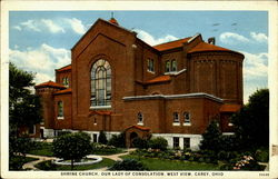 Shrine Church, Our Lady Of Consolation, West View Postcard