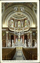 Main Alter, Our Lady of Victoria Basilica Postcard