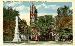 St. James M.E. Church And Soldiers' Monument