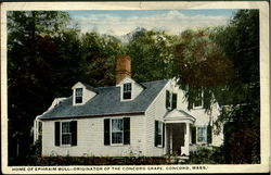 Home of Ephraim Bull-Originator of the Concord Grape