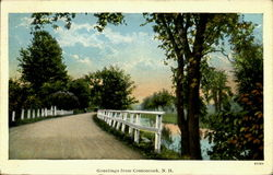 Greetings From Contoocook, N.H. Postcard