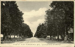 View Of Canaan St. Looking North Postcard
