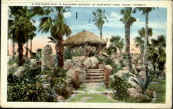 A Thatched Hut, A Pleasant Retreat in Bayfront Park Miami, Bayfront Park