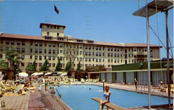 Ambassador Hotel And Pool Los Angeles California