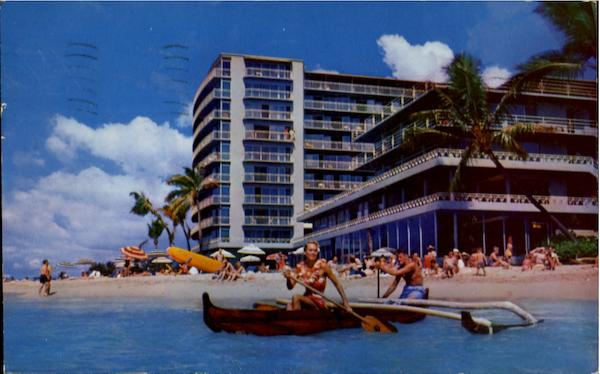 The Reef Hotel - On The Beach at Waikiki Hawaii