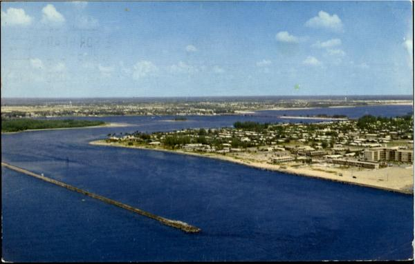 Aerial View Of The Palm Beach Inlet Florida