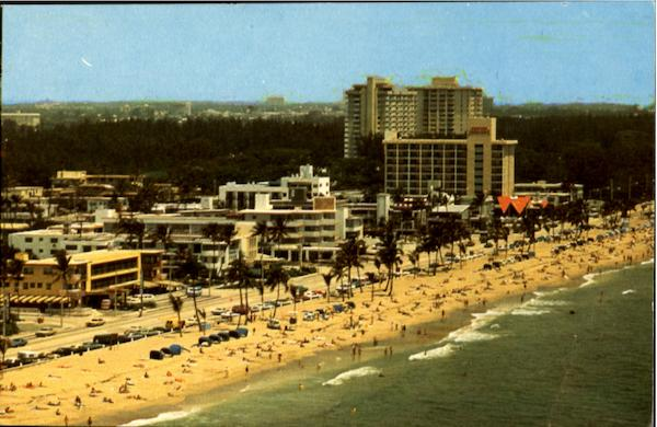 Ocean Front Hotels Along the beach at Tropical Fort Lauderdale Florida