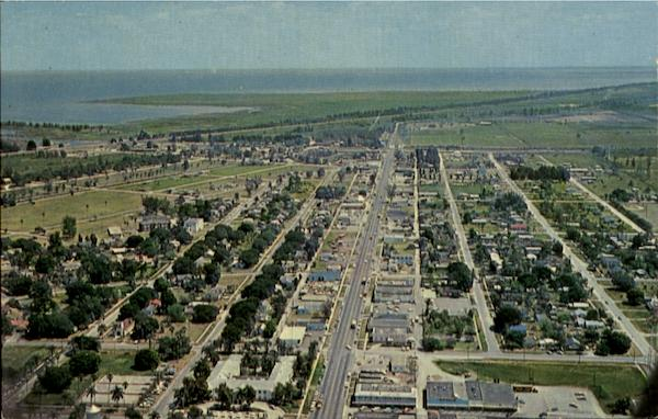 Air view of Clewiston Florida