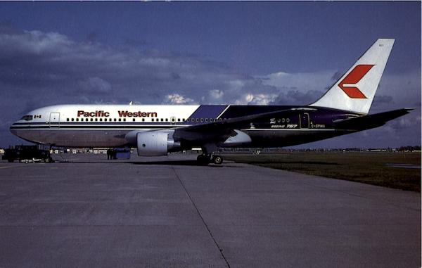 Pacific Western Airlines B-767-275 Columbia Aircraft