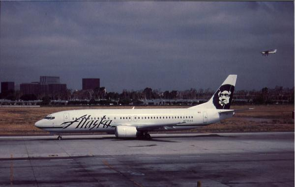 Alaska Airlines Orange California
