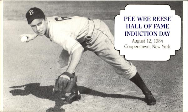 Pee Wee Reese Hall of Fame Induction Day Cooperstown New York
