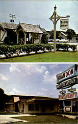 Brandon Motor Lodge/Town House Restaurant, 906 East Brandon Blvd. Postcard
