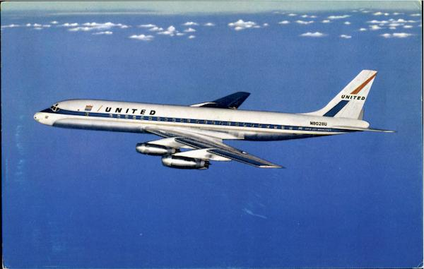 United Air Lines Dc-8 Jet Mainliner Aircraft