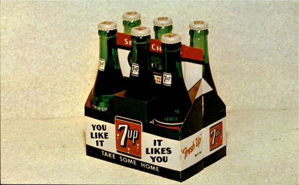 7-Up 6-Bottle Carton Postcard