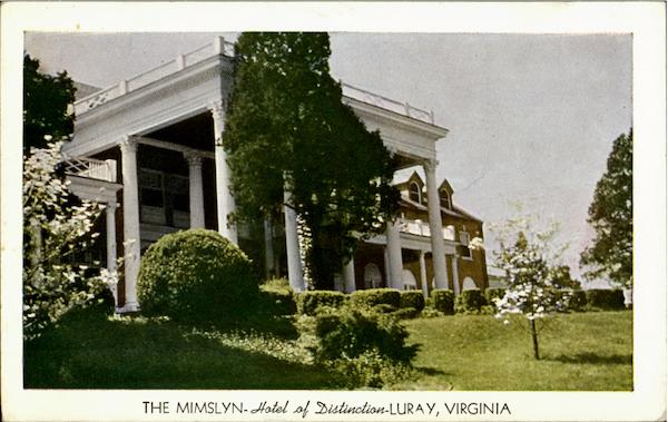 The Mimslyn, Hotel Of Distinction Luray Virginia